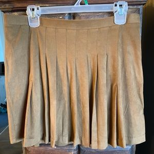 High Wasted Suede Skirt